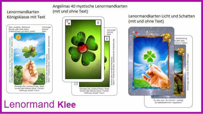 Lenormand Klee - Kartendecks