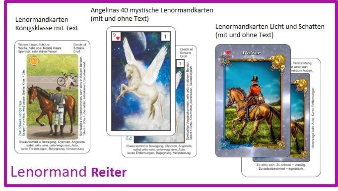 Lenormand Reiter - Kartendecks