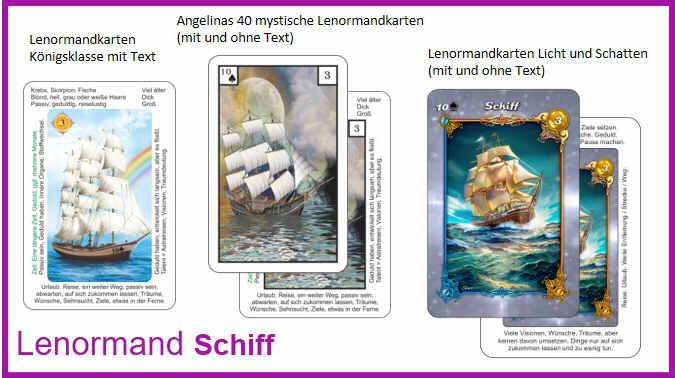 Lenormand Schiff - Kartendecks