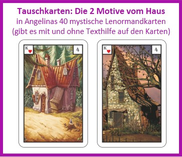 Lenormand Haus 2 Motive als Tauschkarten