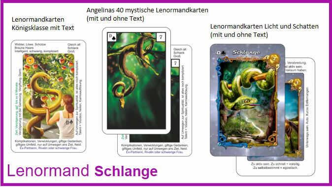 Lenormand Schlange - Kartendeck