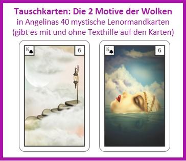Lenormand Wolken 2 Motive als Tauschkarten