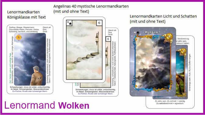 Lenormand Wolken - Kartendeck