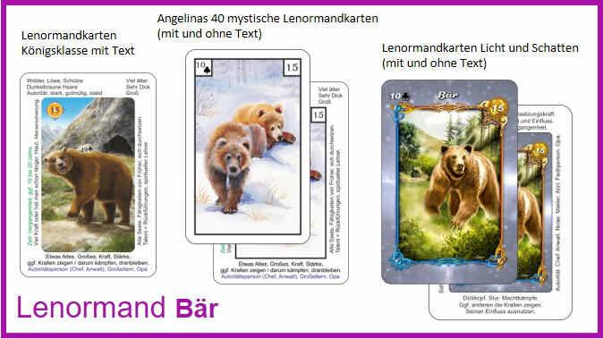 Lenormand Baer - Kartendeck