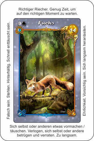 Lenormand Fuchs Blickrichtung