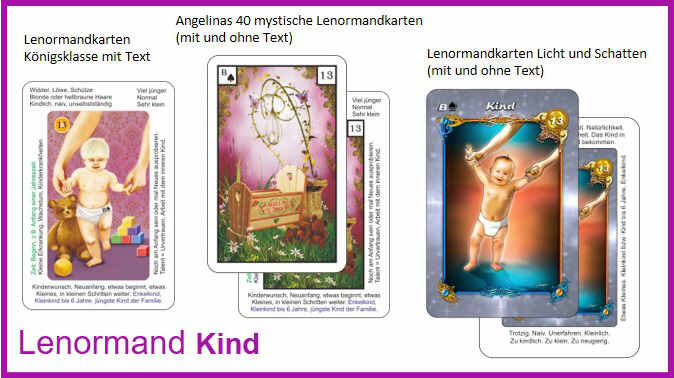 Lenormand Kind - Kartendeck