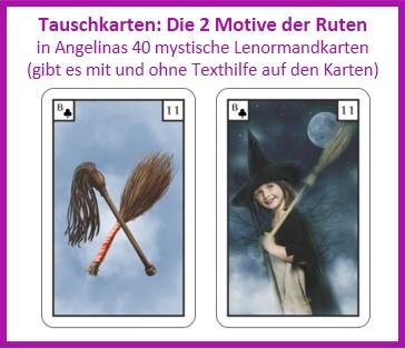 Lenormand Ruten 2 Motive als Tauschkarten