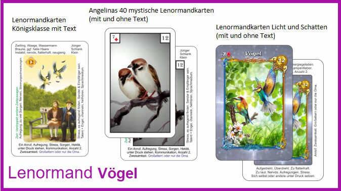 Lenormand Voegel - Kartendeck