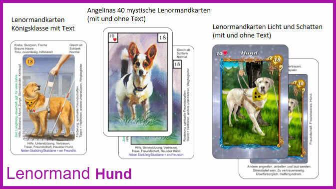 Lenormand Hund - Kartendeck