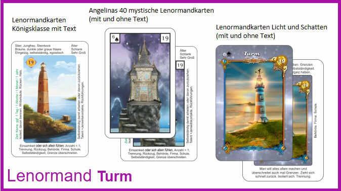 Lenormand Turm - Kartendeck