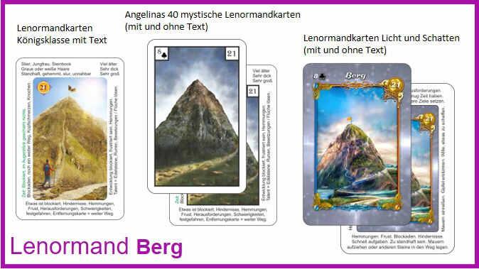Lenormand Berg - Kartendeck