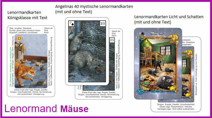 Lenormand Maeuse - Kartendeck
