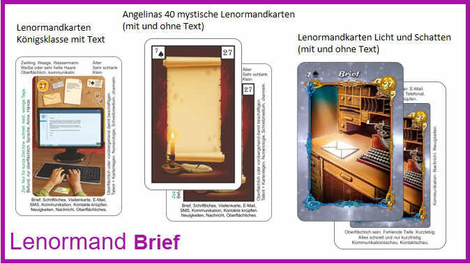 Lenormand Brief - Kartendeck
