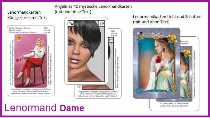 Lenormand Dame - Kartendeck