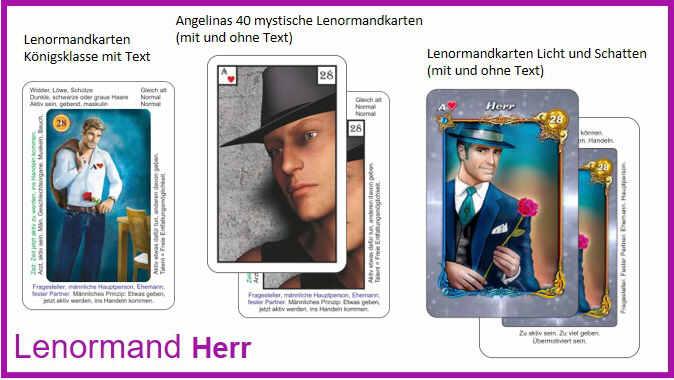 Lenormand Herr - Kartendeck
