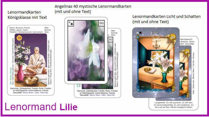 Lenormand Lilie - Kartendeck