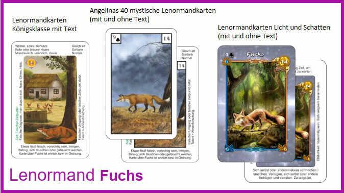 Lenormand Fuchs - Kartendeck