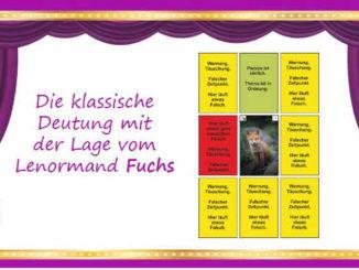 Lenormandkarte Fuchs mit der Lage