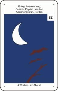 Lenormandkarte 32 der Mond