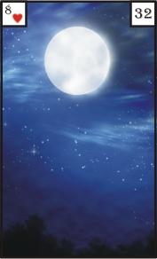 Mystische Lenormandkarte 32 Mond