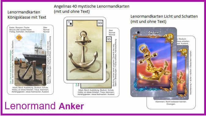 Lenormand Anker - Kartendeck