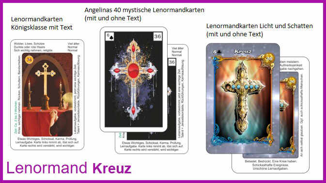 Lenormand Kreuz - Kartendeck
