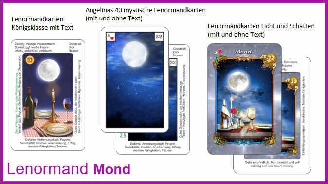 Lenormand Mond - Kartendeck