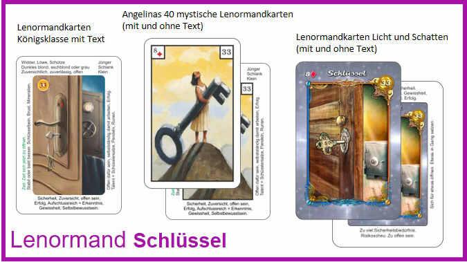 Lenormand Schluessel - Kartendeck