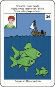 Lenormandkarte 34 Fische