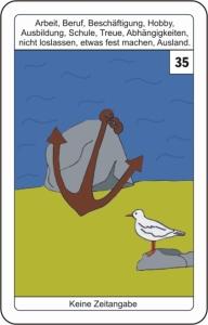 Lenormandkarte 35 Anker