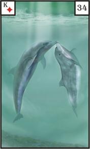 Mystische Lenormandkarte Fische