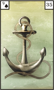 Lenormandkarte Anker aus dem Deck Angelinas 40 mystische Lenormandkarten