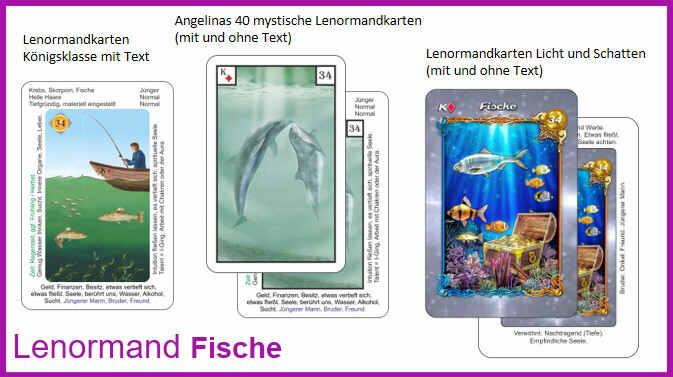 Lenormand Fische - Kartendeck