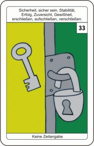 Lenormandkarte 33 der Schluessel