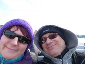 London Angelina und Burkhard auf dem Schiff