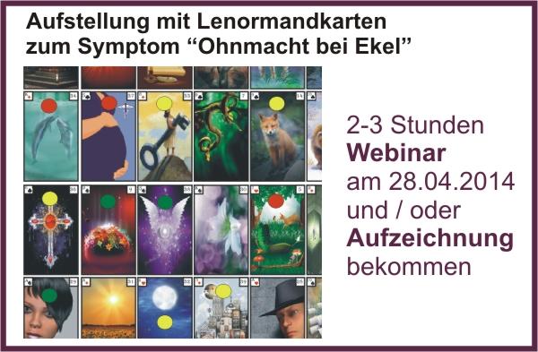 Kartenlegen lernen und Aufstellung mit Lenormandkarten zur Krankheit