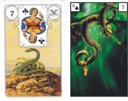 Lenormandkarten Schlange