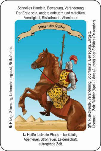 Tarotkarten Bedeutung Ritter der Staebe