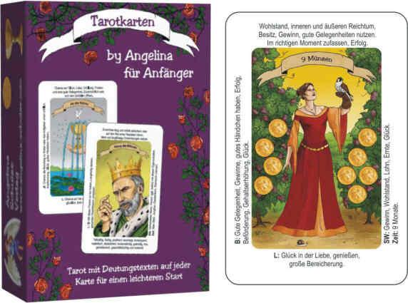 Tarotkarten by Angelina für Anfänger mit Bedeutung drauf