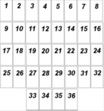 Lenormand Kombinationen Haeuserschablone normale Reihenfolge