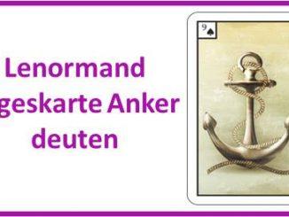 Lenormand Tageskarte Anker