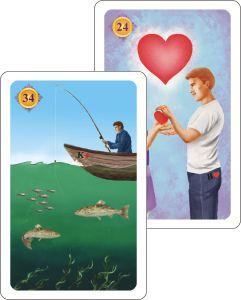 Kartenlegen Haeuserdeutung - Fische auf Haus Herzjpg