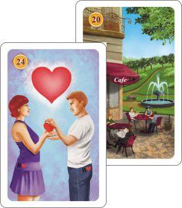 Kartenlegen Haeuserdeutung - Herz auf Haus Park