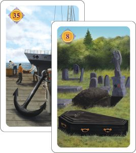 Kartenlegen Haeuserdeutung - Sarg auf Haus Anker