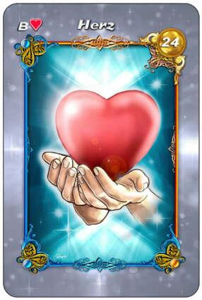 Lenormand Liebe - Karte Herz