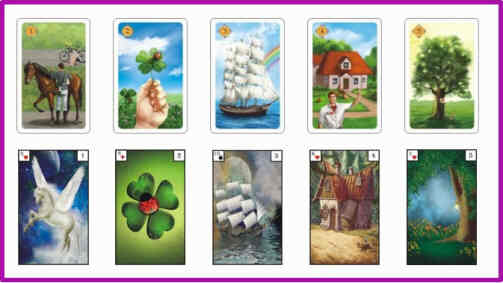 Lenormandkarten Bedeutung 1 - 5
