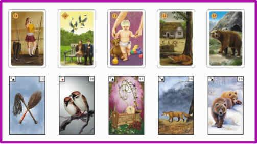 Lenormandkarten Bedeutung 11 - 15