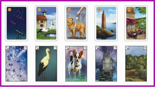 Lenormandkarten Bedeutung 16 - 20