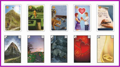 Lenormandkarten Bedeutung 21 - 25