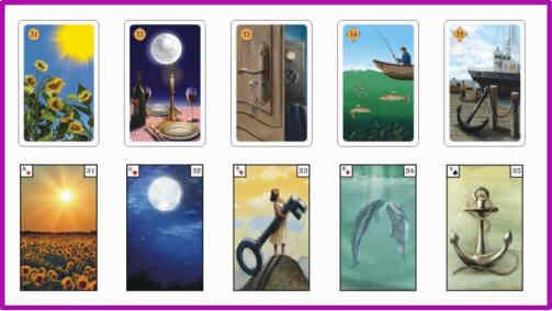 Lenormandkarten Bedeutung 31 - 35